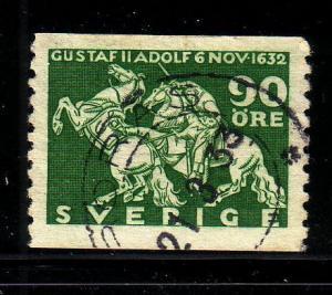 Sweden Sc 235 90 ore Gustavus Adolphus stamp used
