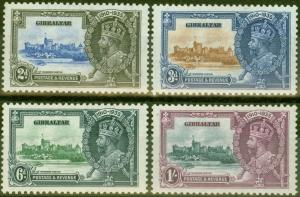 Gibraltar 1935 Jubilee set of 4 SG114-117 V.F Very Lightly Mtd Mint