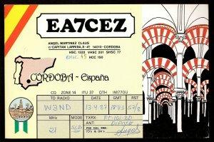 QSL QSO RADIO CARD The Mezquita (Mosque) of Cordoba,Angel Claus, Spain (Q2969)