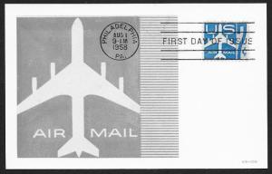 UNITED STATES FDC 7¢ US Air Mail 1958 Velvetone MAXI
