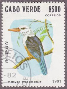 Cape Verde 438 Used 1981 Passerine