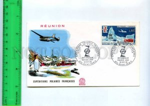 254795 REUNION POLAR expedition Penguin AVIATION HISTORY 1968 year FDC