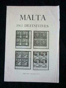 MALTA 1965 DEFINITIVES by MALTA STUDY CIRCLE