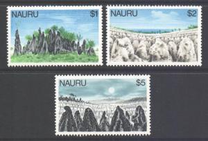 Nauru Scott 179/181 - SG188/190, 1978 Pinnacles at Topside $1 - $5 MNH**