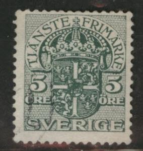 SWEDEN Scott o45 used 1910 official stamp