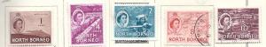 North Borneo #261,262,264,266,267 1 (MH&U) CV $2.05