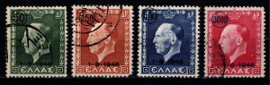 Greece 1946 Restoration of Monarchy, Surch. and date1-9-1946, Set [Used]