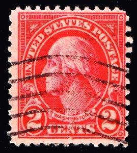US STAMP #634A – 1928 2c Washington, carmine, type II USED