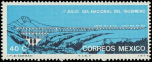 Mexico #1063, Complete Set, 1974, Bridges, Never Hinged