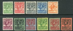 FALKLAND ISLANDS-1929-37 Whale & Penguins.  A mounted mint set to £1 Sg 116-126