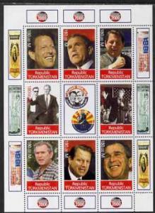 Turkmenistan 2000 George W Bush - Campaign 2000 perf shee...