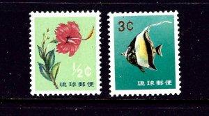 Ryukyu Is 76-77 MNH 1960-61 issues