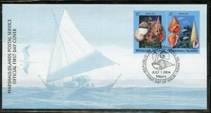 MARSHALL ISLANDS 2004 SHELLS SET FIRST DAY COVER