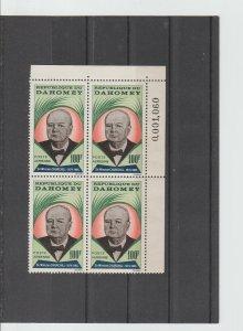 Dahomey  Scott#  C28  MNH  Block of 4  (1965 Winston Churchill)