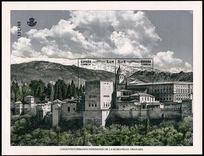 HERRICKSTAMP NEW ISSUES SPAIN Sc.# 4232 World Heritage Sites, Granada Sheetlet