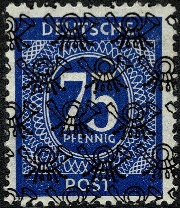 GERMANY ALLIED 1948 75pf.BLUE MINT (NH) Optd. T. A3 SGA102 Wmk.230 P.14 SUPERB