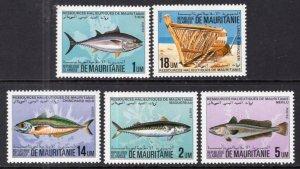 Mauritania 558-561 Fish MNH VF
