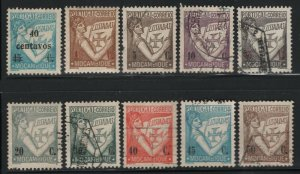 Mozambique 1933 Lusiads Definitive set Sc# 251-69 used