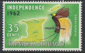Trinidad & Tobago  SG 303 MLH Independence 1962  SC# 108 - see details