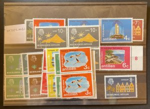 Netherlands Indies 28 Stamps Most MNH