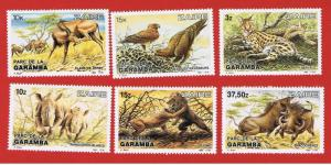 Zaire #1131-1136  MVFLH OG  Animals  Free S/H