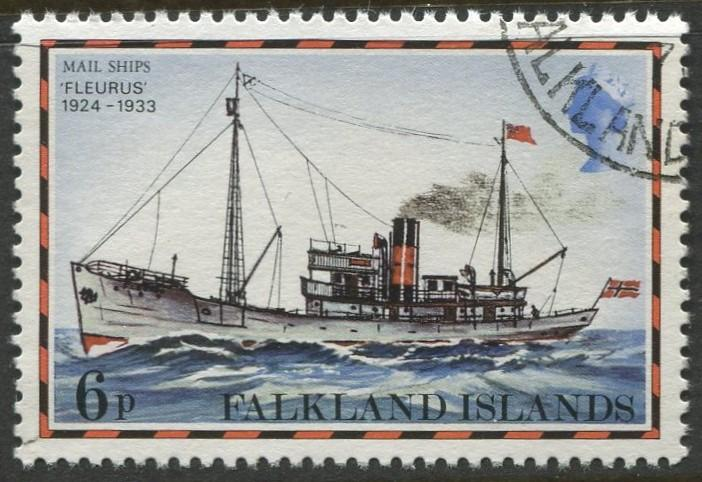 Falkland Is.- Scott 265 - Ships Issue - 1978 - VFU - Single 6p Stamp