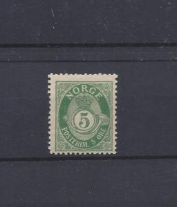 Norway, 50a, Post Horn Single,**LH**