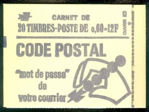 FRANCE : 1974. Maury Bookelt #394 Cplt Bklt of 20. Stamps w/o Phosphor. Cat €460