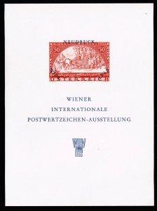 AUSTRIA 1965 WIPA EXHIBITION SHEET MNH/OG