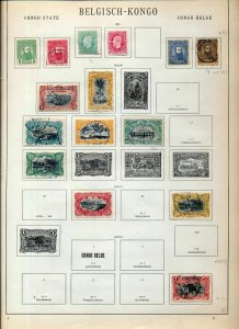 Belgium Congo 1886/1928 M&U on Old Pages(85+Items)NS 79