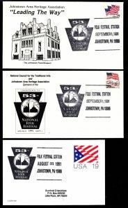 1991 National Folk Festival Johnstown PA Flood Museum set of 3+ extras
