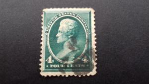 United States Andrew Jackson 1883 4 cents Used