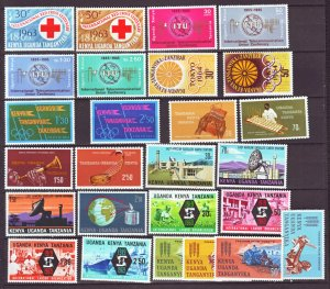 J22144 Jlstamps 8 1960,s-70,s kenya uganda tanzania sets mnh/mh #142-up