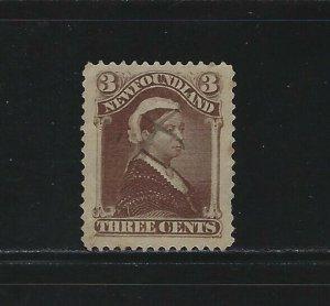 NEWFOUNDLAND - #51 - 3c QUEEN VICTORIA USED STAMP