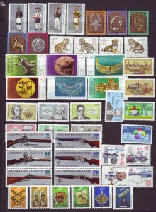 J22676 Jlstamps 1978 germany  ddr 10 dif sets mnh #1891//1969a designs