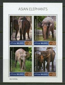 MALDIVES 2019  ASIAN ELEPHANTS  SHEET   MINT NH