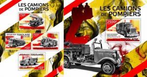 Z08 TG14415ab Togo 2014 Fire trucks SET Postfrisch ** MNH