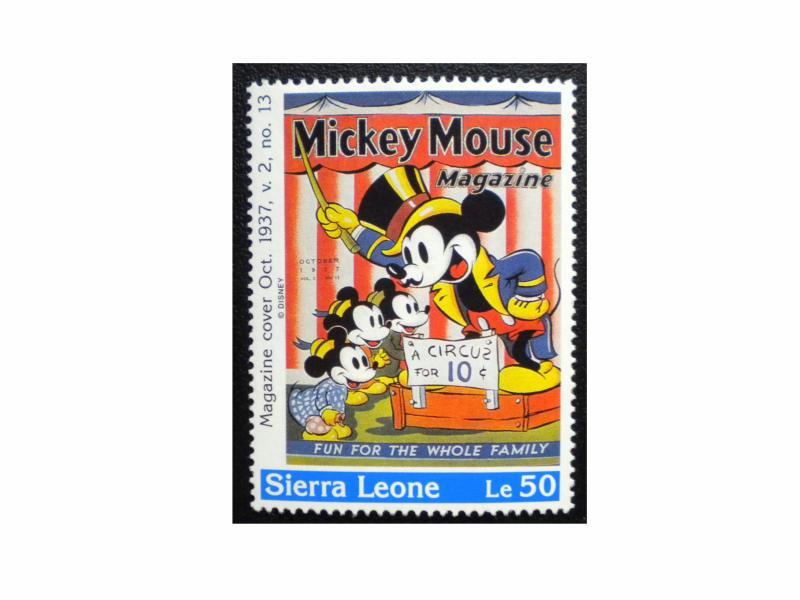 SIERRA LEONE MICKEY MOUSE STAMP 1992 SCOTT 1572 MINT