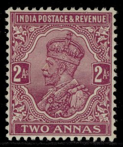 INDIA GVI SG206, 2a purple, M MINT.