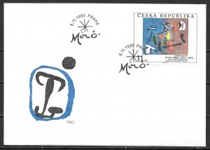 Czech Republic 2909 Miro Painting Art FDC First Day Cover