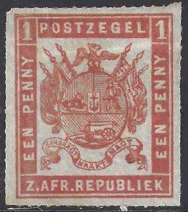 Transvaal 1870 SC 24 Mint NG SCV$ 260.00