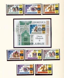 Dominica 1977/78 Royalty Christmas Carnival Air MNH+Sheets(Apx 50 Items) (PB 258