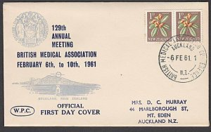 NEW ZEALAND 1961 Br Medical Assoc. cover and special cancel, scarce........29120