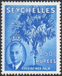 Seychelles 1952  1r.50 Coco-de-Mer palm MNH