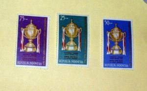 Indonesia - 645-47, MNH Set. Thomas Cup. SCV - $1.35