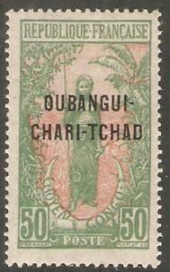 1915 Ubangi-Shari Scott 17 Stamp of Middle Congo Overprint MH