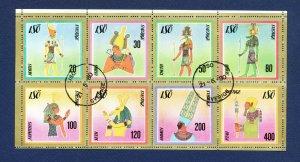 ISO  SVERIGE SWEDEN - S/S of eight -  Egypt art  - 1980