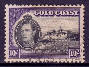 Gold Coast - Scott #127 - Used - Crease, pulled perf, toning - SCV $29