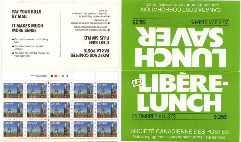 Canada - 1988 37c Lunch Saver Booklet Complete #BK98b