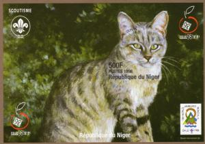 Niger 1998 YT#93 TABBY CAT/CHILE SCOUT JAMBOREE/ISRAEL'98 S/S Imperforated